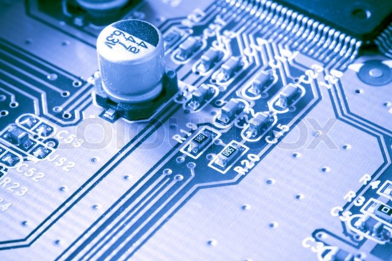 Circuit Board With Connector Stock Image Image 17060101