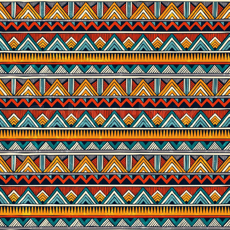 Tribal seamless pattern African print Colorful abstract background Adorable African Tribal Patterns