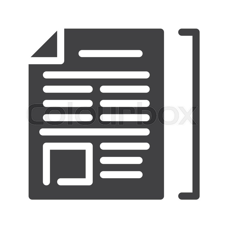 article icon vector filled flat sign stock vector