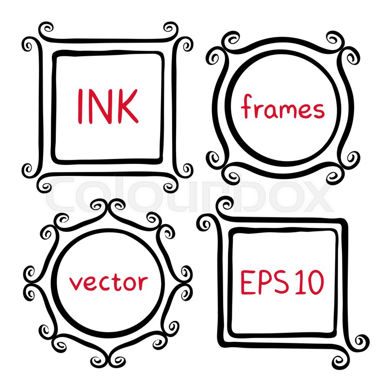 ea34fe1ee711 Cute hand made frames set painted with ...
