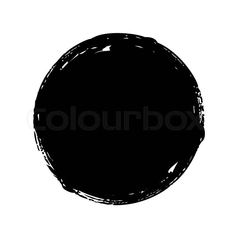 black round button hand painted ink blob hand drawn vector paint brush stroke vector paint brush illustrator