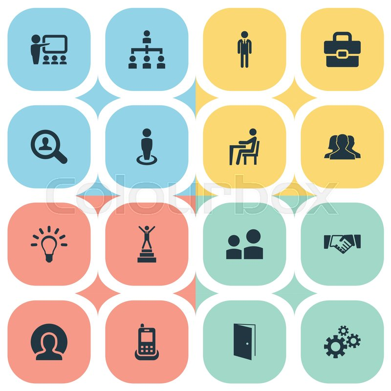 Elements cogwheel telephone winner and other synonyms man elements cogwheel telephone winner and other synonyms man agreement and demonstration vector illustration set of simple icons vector platinumwayz