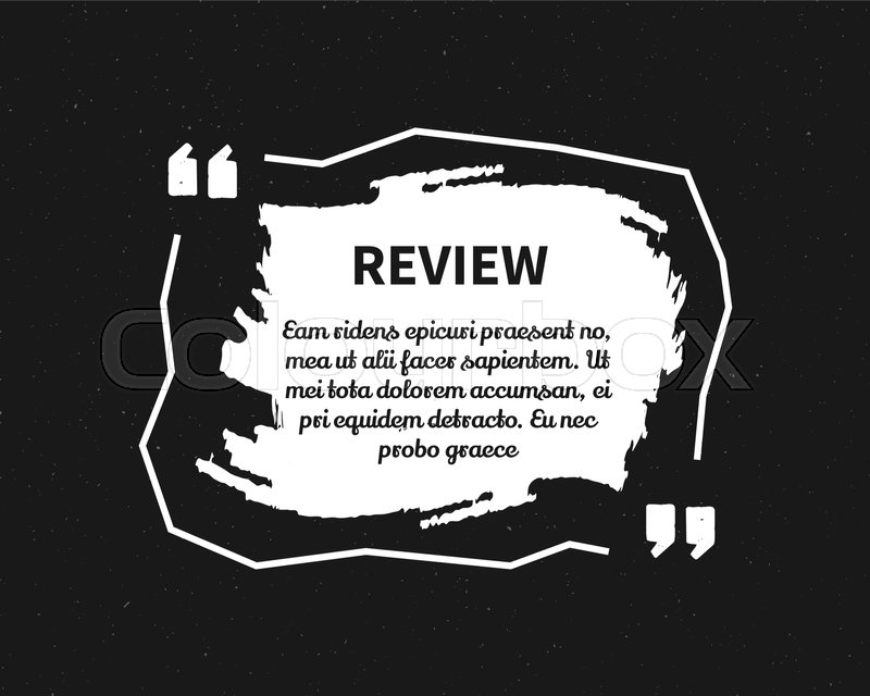 Watercolor ink splash quote blank template quote bubble empty circle business card template paper sheet information print design monochrome review form vector illustration stock vector colourbox reheart Choice Image