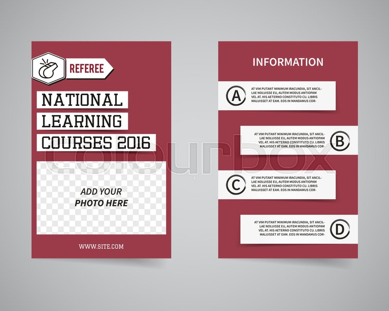 american football couch courses flyer template design usa sport brand identity letterhead event poster brochure and banner with typography and photo