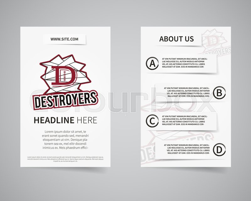 American football college team back and front flyer template design american football college team back and front flyer template design usa sport brand identity letterhead poster brochure and banner with typography spiritdancerdesigns Image collections