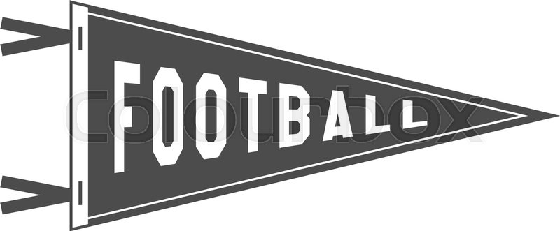 College football pennant banner icon sport flag training camp college football pennant banner icon sport flag training camp emblem university team label element monochrome design template vector sign vector pronofoot35fo Images
