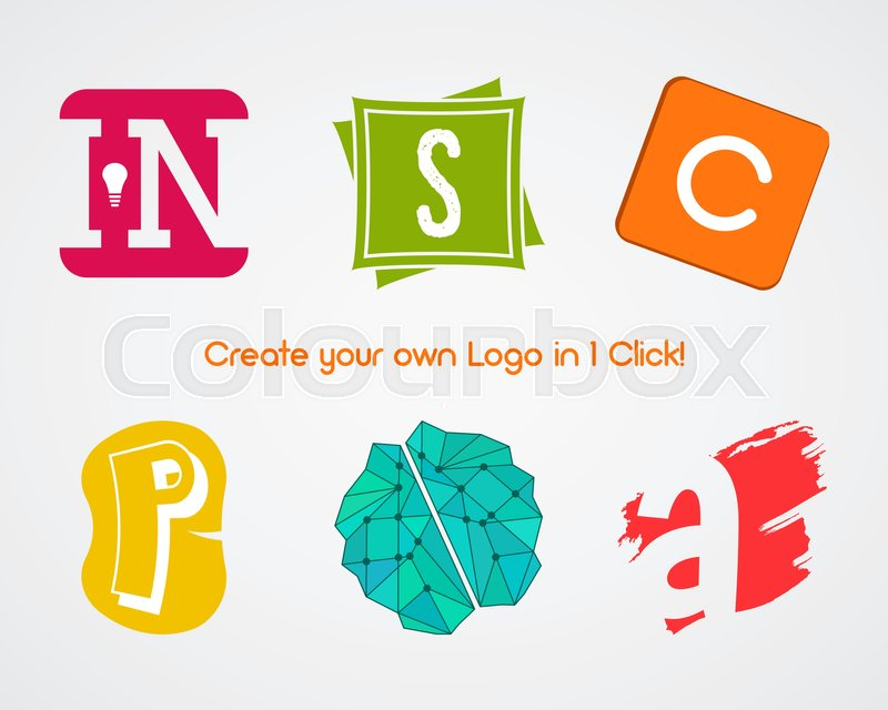 Set Of Vector Abstract Creative Logo Design Elements For Create Your