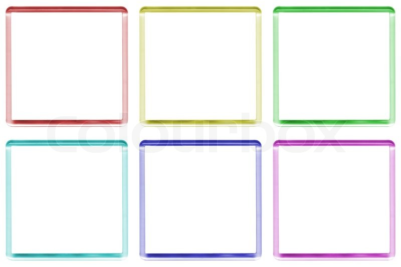 Colored frames with space for text or illustrations | Stock Photo ...