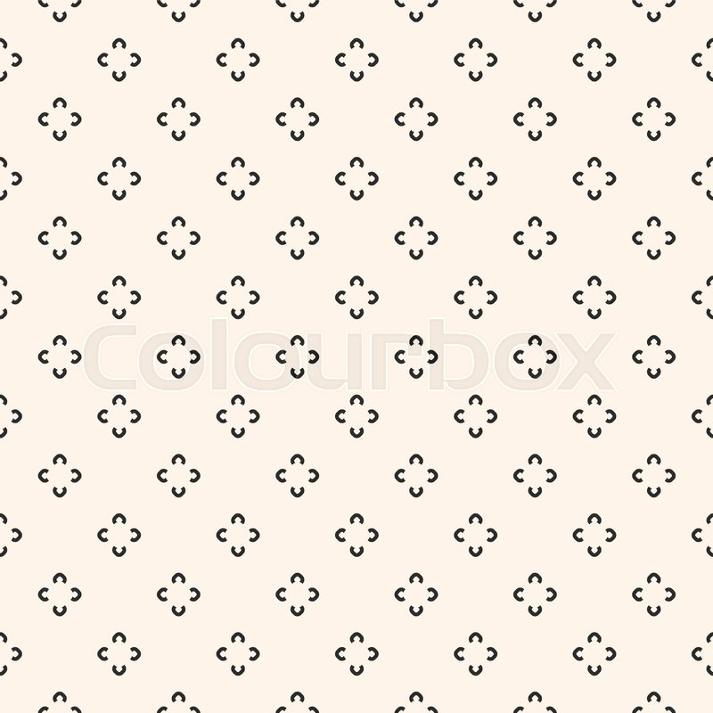 Simple floral pattern  Vector     | Stock vector | Colourbox