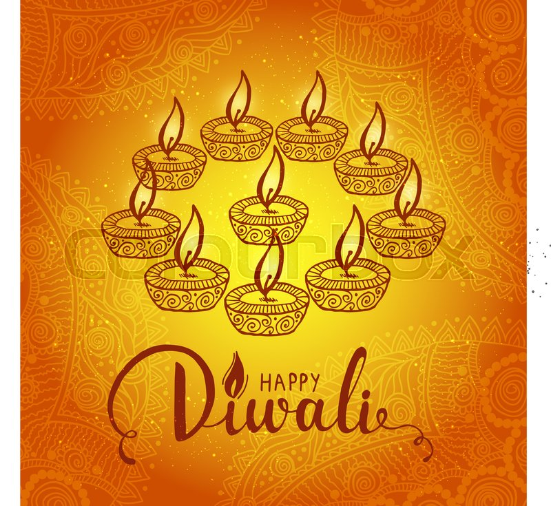 Elegant card design of traditional indian festival diwali with lamp elegant card design of traditional indian festival diwali with lamp beautiful greeting card for festival of diwali celebration stock vector colourbox m4hsunfo