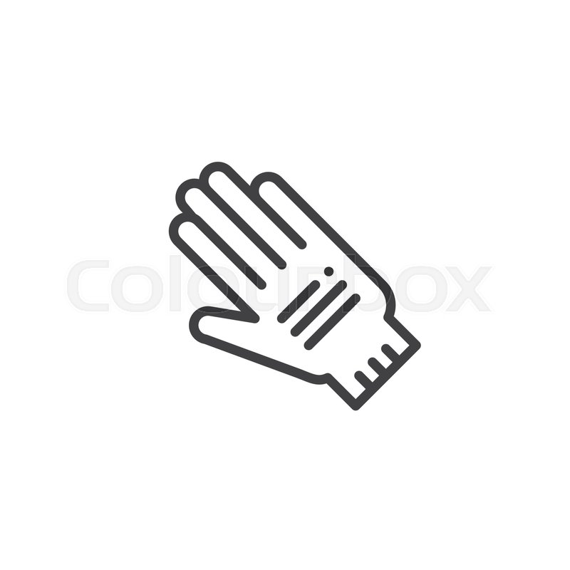 Protective Gloves Line Icon Outline Vector Sign Linear Style