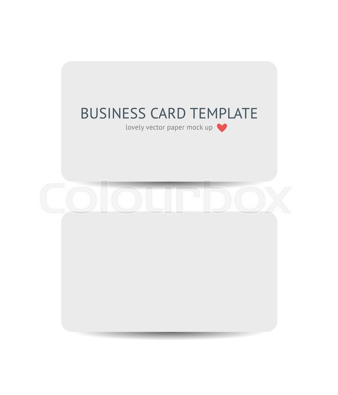 Two business cards with round corners template mockup isolated on stock vector of two business cards with round corners template mockup isolated on white background reheart Image collections