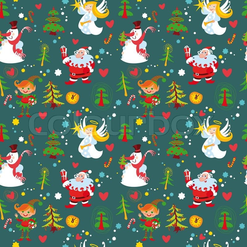 New Year S Background Christmas Seamless Wallpaper