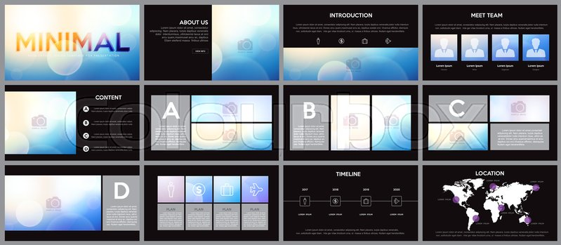 Design Element Of Infographics For Presentation Templatese In
