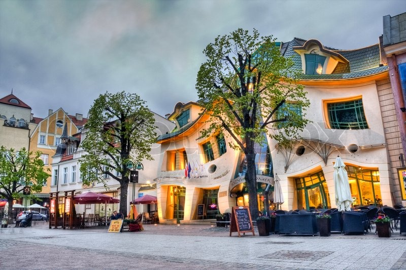 House Call on Stock Image Of  Crooked House Krzywy Domek  Sopot  Poland