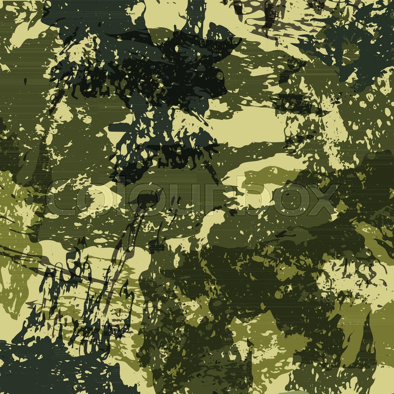 Abstract Military Camouflage Background Made Of Splash Camo Pattern Custom Army Pattern