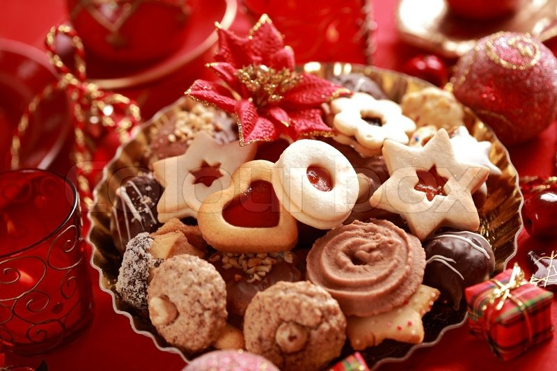 Detail Of Delicious Christmas Cookies Stock Image Colourbox