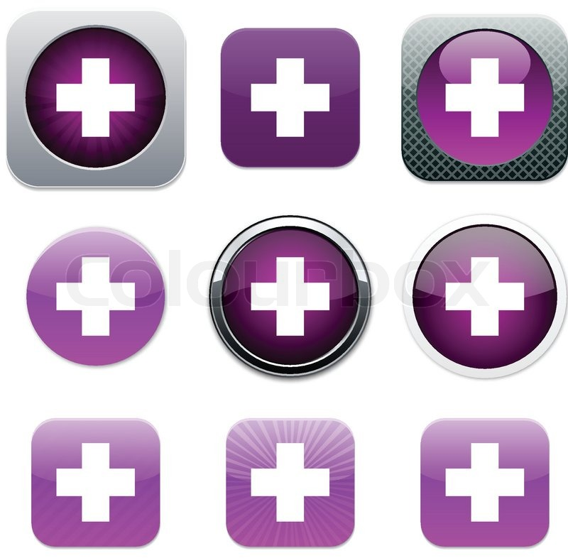 Plus Set of apps icons Vector     | Stock vector | Colourbox