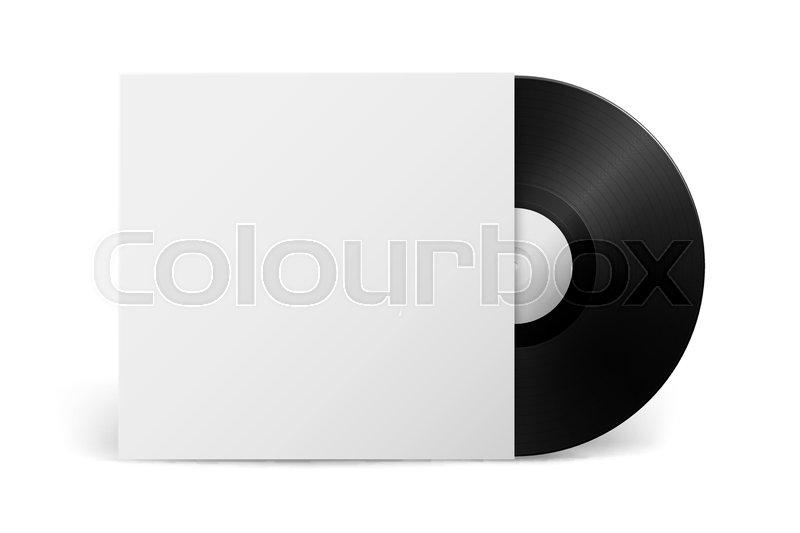 Realistic vector music gramophone vinyl lp record with cover realistic vector music gramophone vinyl lp record with cover isolated on white background design template of retro long play stock vector colourbox maxwellsz