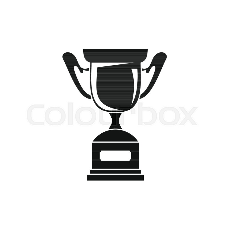 Trophy Sport Cup Award Icon Black Simple Silhouette Illustration Of Vector For Web Isolated On White Background