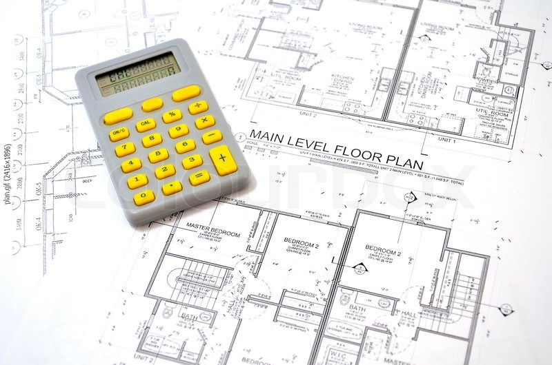 Draft plan of building a house and calculator stock for Custom home build calculator