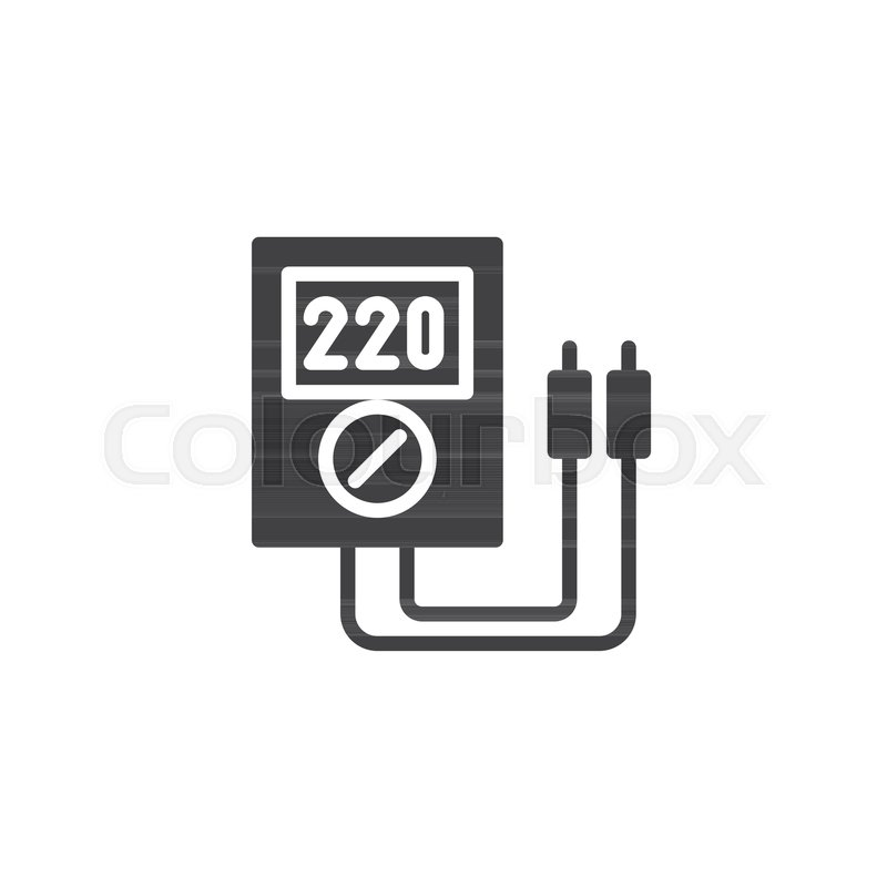 Voltmeter icon vector, filled flat sign, solid pictogram isolated on ...