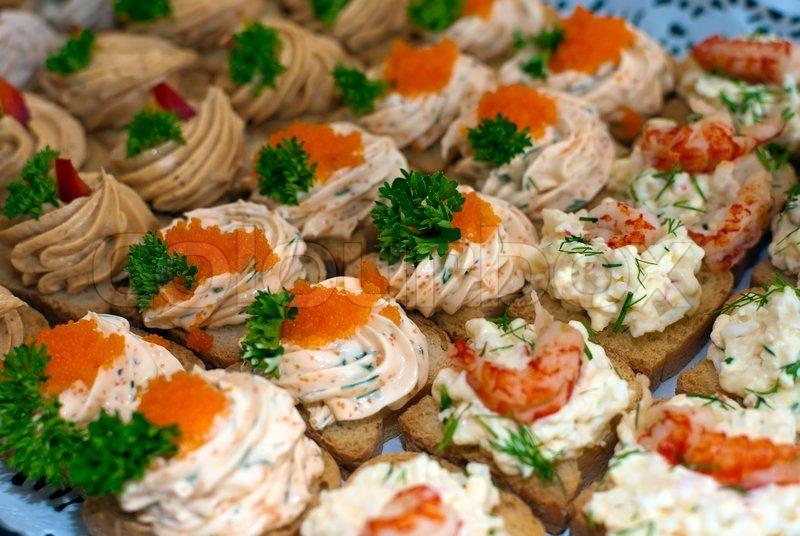 Canapes with caviar and paste stock photo colourbox for Canape de caviar