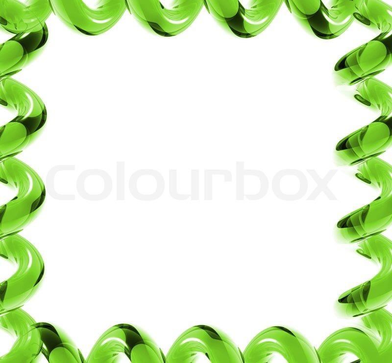 Bright Green Glasses Frames : Bright green glass frame Stock Photo Colourbox
