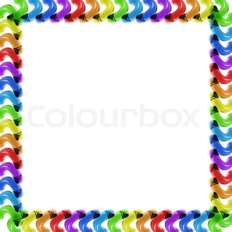 Rainbow glass frame | Stock Photo | Colourbox