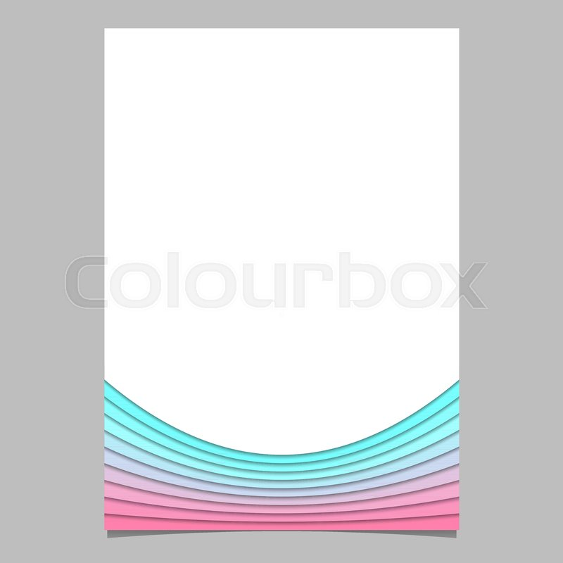 Blank Brochure Template Design From Curves Vector Flyer Graphic