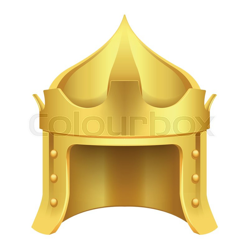 Cartoon Gold King Crown In Form Of Stock Vector Colourbox Luxury premium medieval gold symbols of monarchy scepter antique diadem cute cheerful king ruler on throne crown on head power and scepter in hands cartoon character 3d. cartoon gold king crown in form of