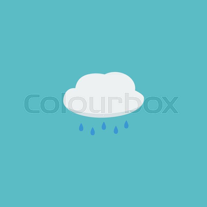 Flat Icon Cloud Element Vector Illustration Of Flat Icon Rain