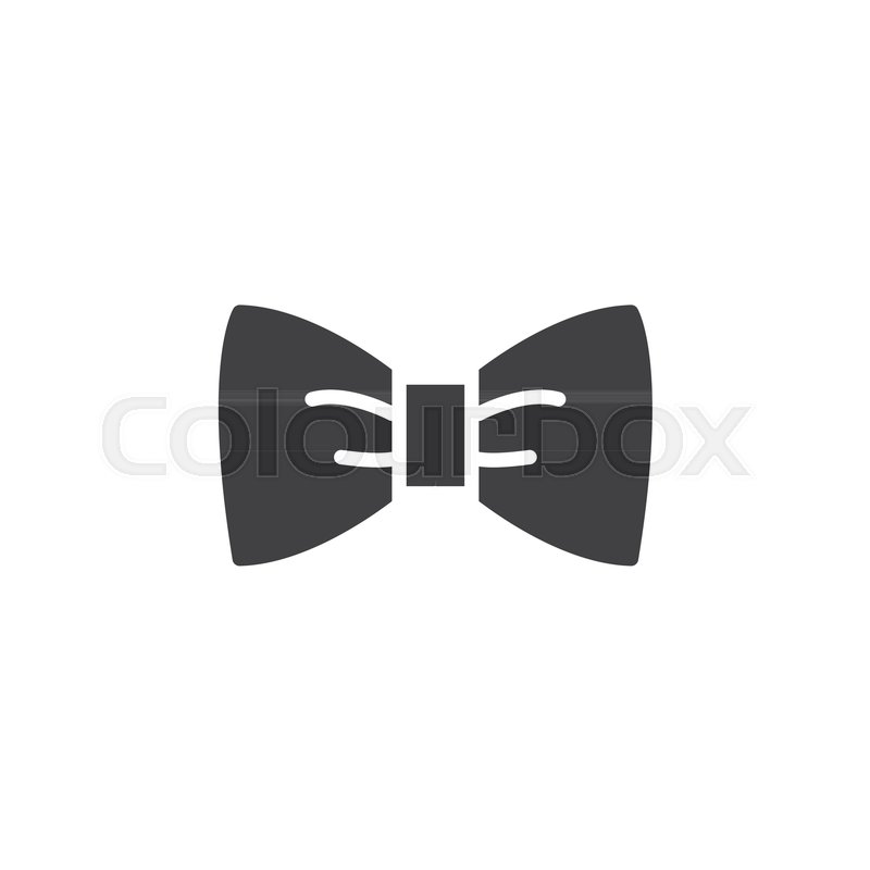 Bow Tie Icon Vector Filled Flat Sign Solid Pictogram Isolated On
