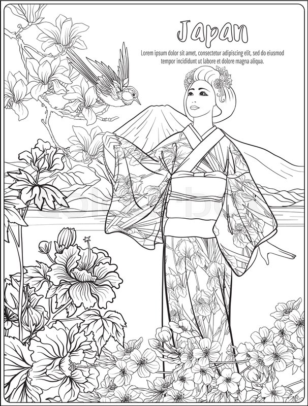 Spaice japanese coloring pages printable spaice best for Printable japanese coloring pages