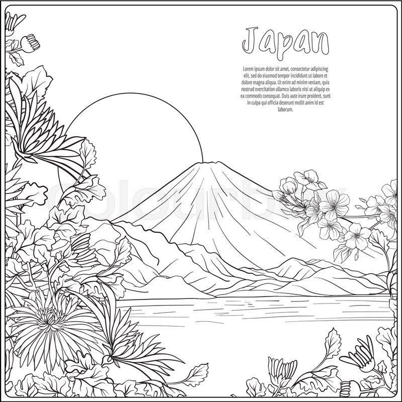 Japan, färben, kran | Vektorgrafik | Colourbox