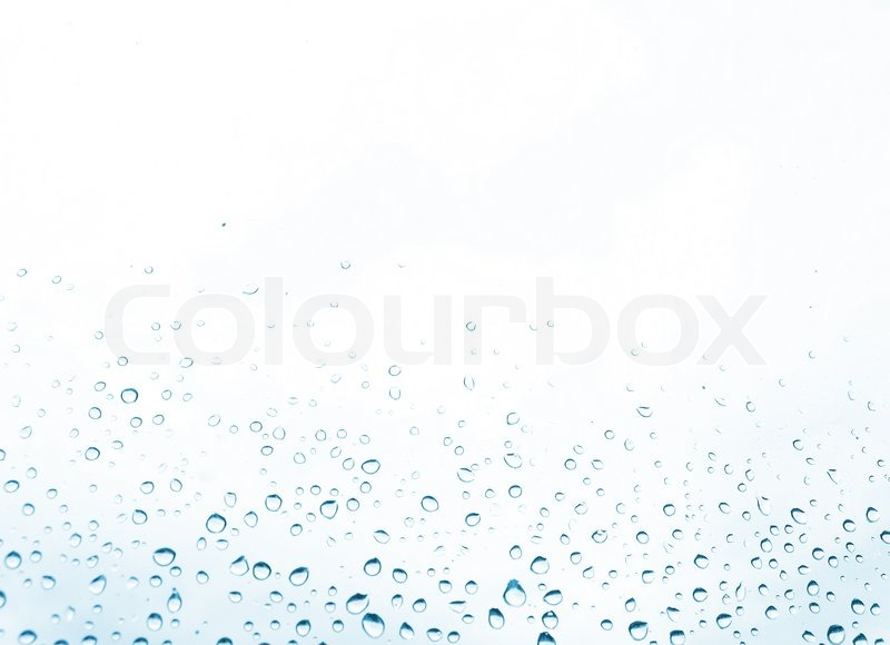 Blue water drops on the white background | Stock Photo ...