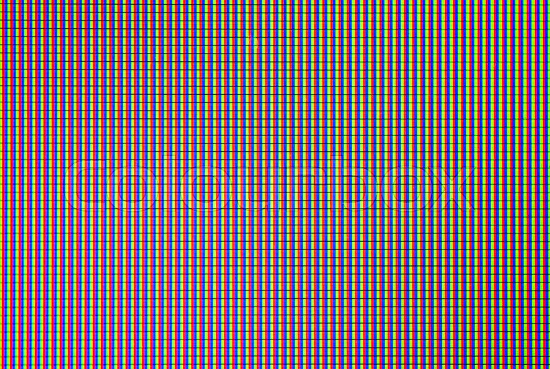 Close up LED display with color shades for screen technology, stock photo