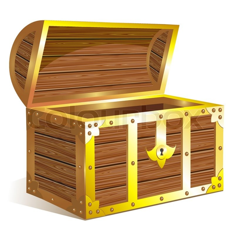 free open treasure chest vector