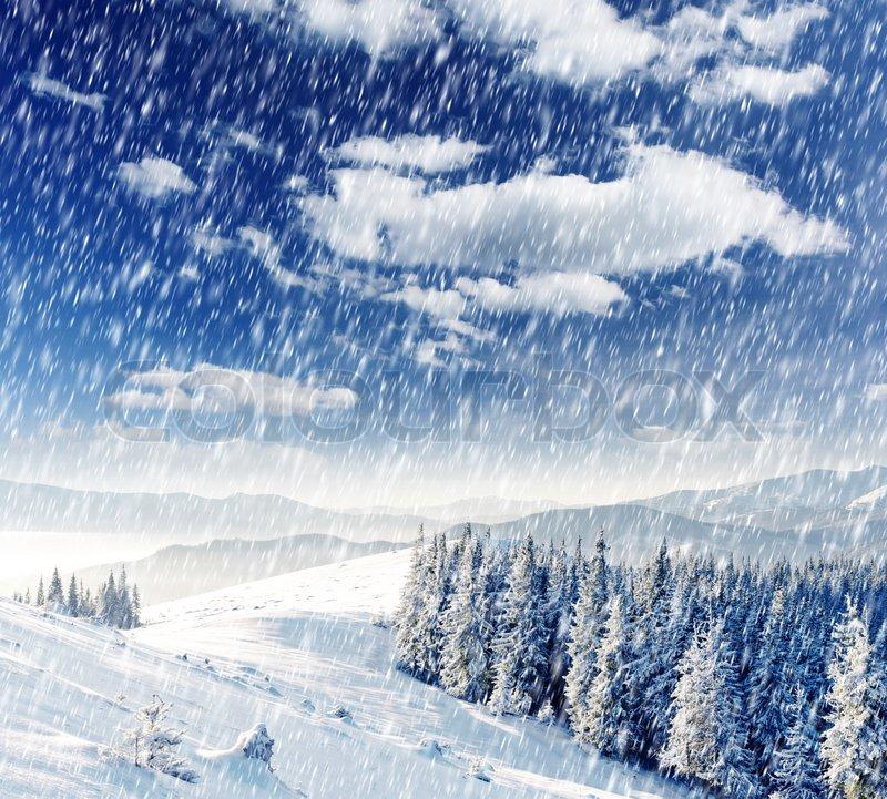 Wallpaper-winter-landscape-snow-church in Beautiful Christmas ...