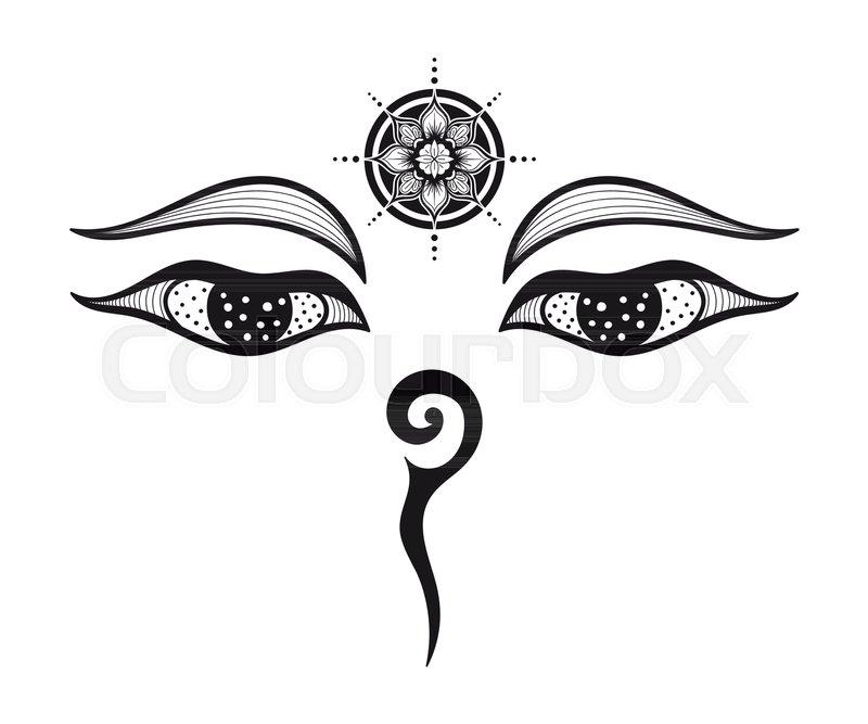 Eyes Of Buddha Buddhist Eyes Symbol Wisdom And Enlightenment