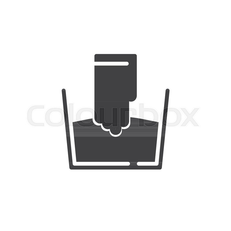 Hand Wash Icon Vector Filled Flat Sign Solid Pictogram Isolated On