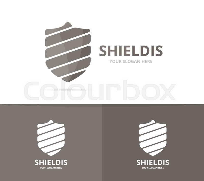 Vector of shield logo combination. Security and protect symbol or ...