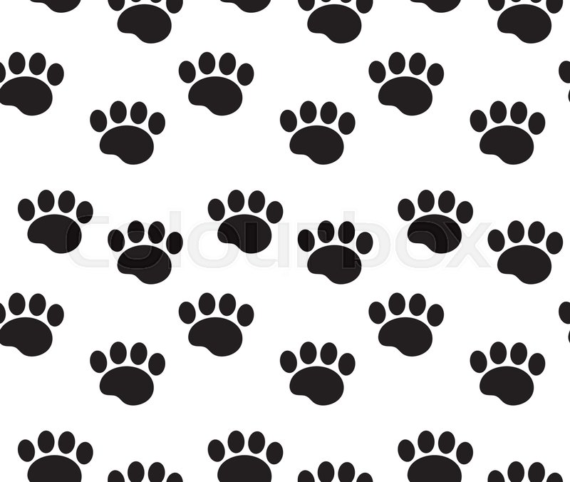 cbe8e0e7dd28 Animal tracks seamless pattern. Dog ...   Stock vector   Colourbox