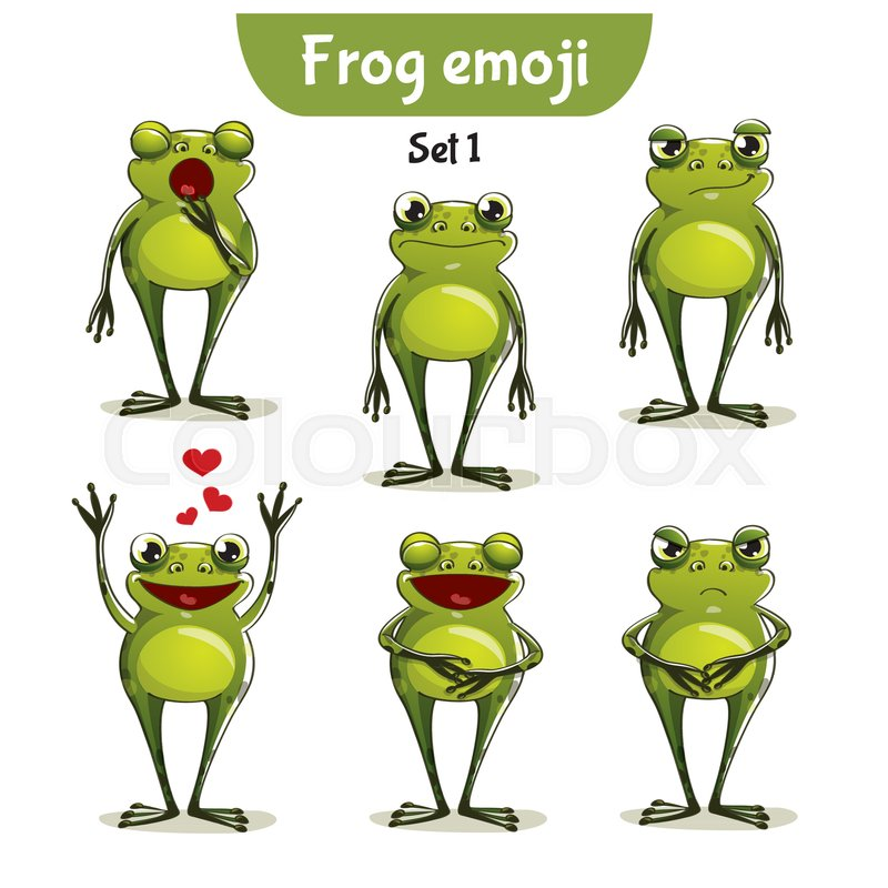 set kit collection sticker emoji emoticon emotion vector isolated rh colourbox com sweet frog victorville ca Turtle Vector
