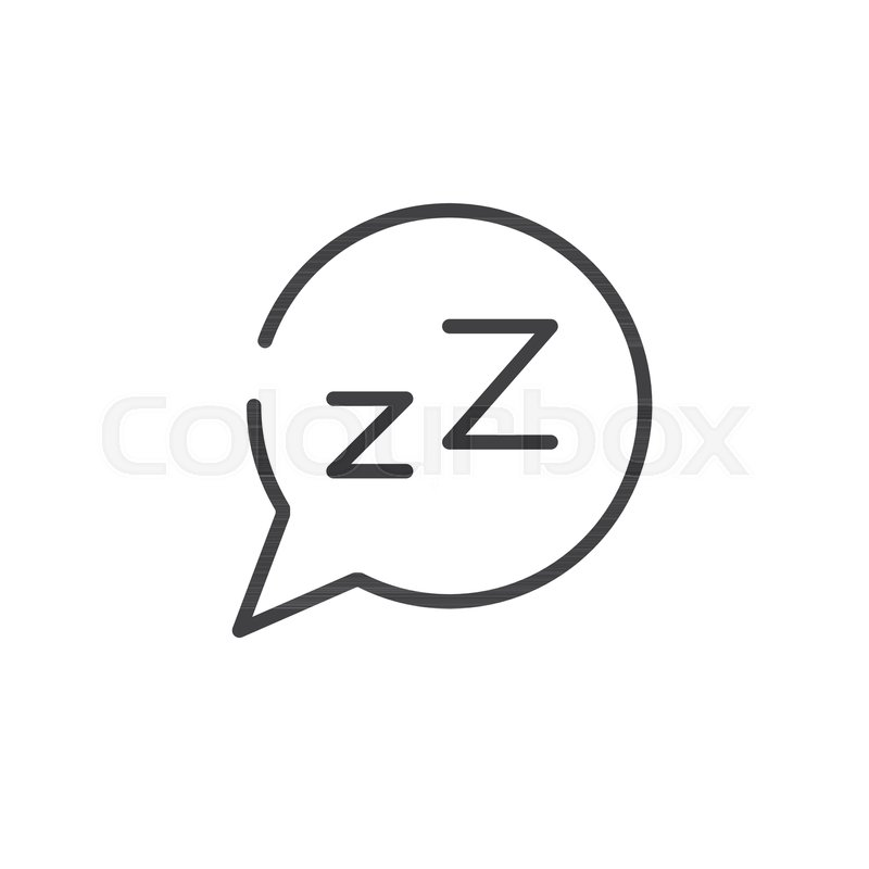 Dream speech bubble with z letter line icon outline vector sign dream speech bubble with z letter line icon outline vector sign linear style pictogram isolated on white symbol logo illustration spiritdancerdesigns Image collections