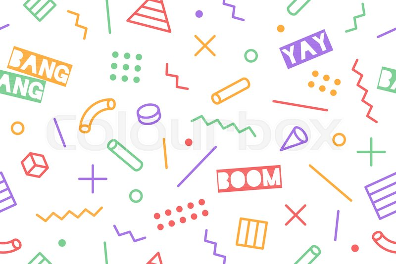 Seamless graphic memphis pattern     | Stock vector | Colourbox