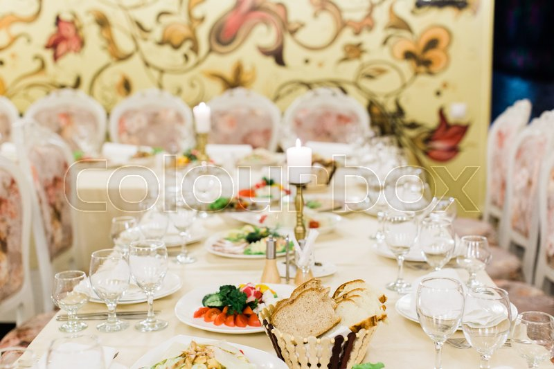 Banquet Table Setting Catering Table Set Elegance Table Set Up - Catering table setting
