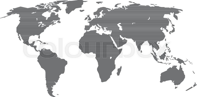 Grey World Map Illustration Stock Illustration - Illustration of ...