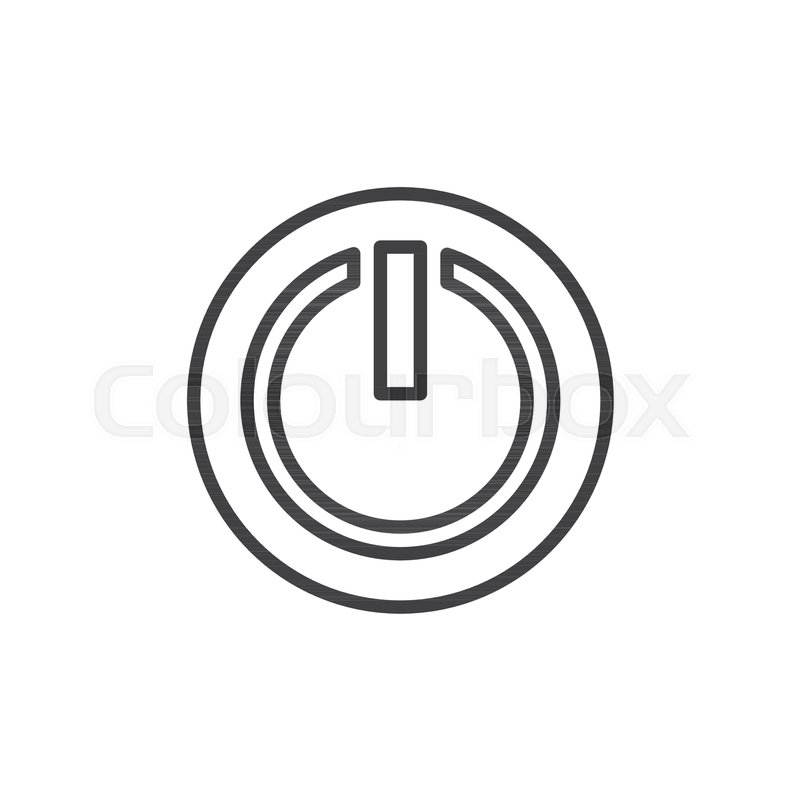 Power Off Or Power On Button Line Icon Outline Vector Sign Linear