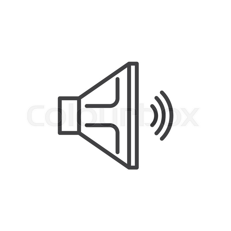 Speaker Line Icon Outline Vector Sign Linear Style Pictogram